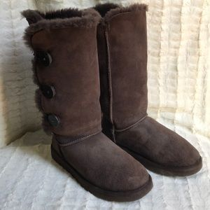 Ugg tall boots with buttons